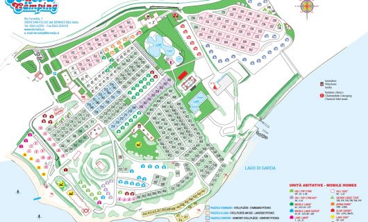 Plattegrond Camping Fornella
