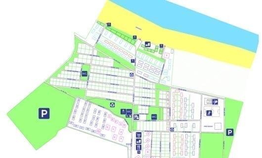 Plattegrond Camping Sos Flores