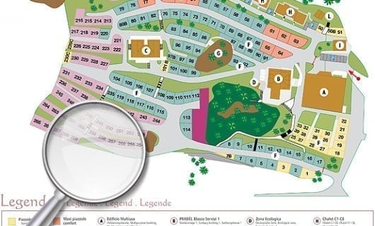 plattegrond Camping Vidor - Family & Wellness Resort